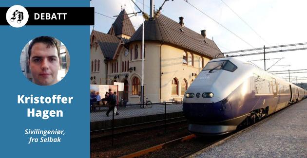 – Ideen til Jernbanedirektoratet er tydeligvis at markedet vil sørge for et velfungerende togtilbud mellom Halden og Gøteborg, skiriver Hagen, og har selv ikke tro på at dette vil fungere.