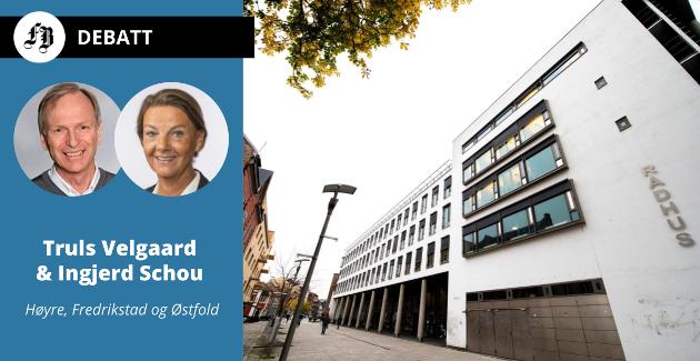– I 2020 fikk Halden, Moss, Sarpsborg og Fredrikstad alene nesten 800 millioner kroner i inntektsutjevning, opplyser Velgaard og Schou.
