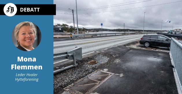Hytteforeningen har sendt bekymringsmelding om dette punktet på Hvalerveien. Foreningen mener det kreves flere tiltak før syklister kan krysse veien under sommertrafikk.