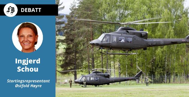Tre Bell-helikoptre som Senterpartiet ville flytte fra Rygge til Bardufoss har utløst debatt med Høyre om beredskapen på Østlandet.