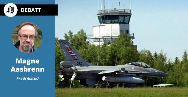 Magne Aasbrenn vil at dei som stiller til stortingsval frå Østfold, seier klart ifrå om dei støttar meir amerikansk aktivitet på Rygge eller ikkje. Bilete fra militærøving på flystasjonen.