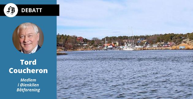 Øyenkilen med småbåthavna som foreningen har fått nei til å oppgradere og utvide uten  å gå den tunge og kostbare veien om regulering.