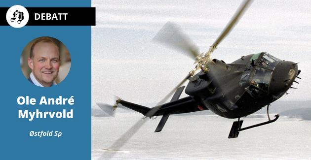– Å flytte tre helikoptre tilbake til Bardufoss svekker verken Rygge, beredskapen eller evnen til å trene og samhandle, fastslår Myhrvold.