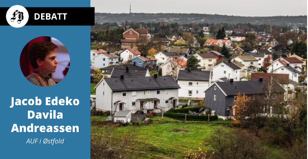 – Det er ingen i AUF eller Arbeiderpartiet som mener at staten skal ta kontroll over private boliger, understreker Jacob Edeko Davila Andreassen.