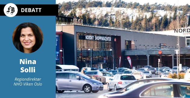 Parkeringsplassen på Nordby – også et bevis på at grensehandelen fører med seg store klimautslipp.