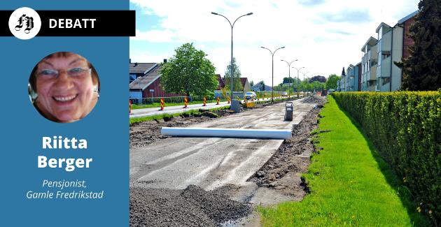 Lindetrær er fjernet fra midtrabatten i Gamlebyveien i forbindelse med asfalteringsarbeidet som pågår.