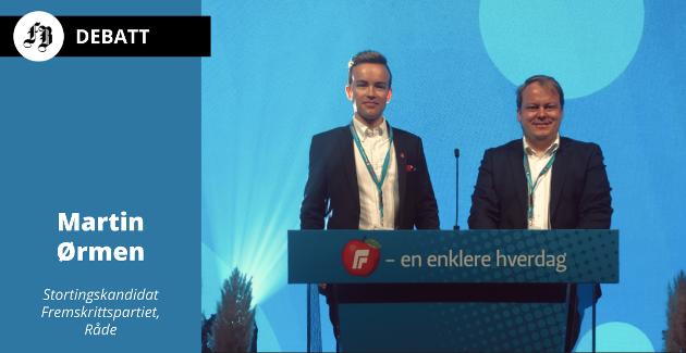 Frps Stortingsrepresentant Erlend Wiborg og stortingskandidat Martin Ørmen kjemper for en enklere hverdag for folk flest – i egen bolig.