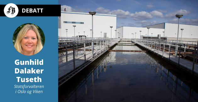 Investering i nye, bedre kloakkrenseanlegg er det store grepet i Statsforvalterens oppskrift på å redde Oslofjorden. Det er bare å innrette seg på nye krav, som her ved Frevars renseanlegg på Øra som skal oppgraderes for nær 1,5 milliarder kroner.
