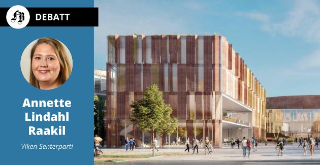 Nye Frederik II vgs. slik skolen er planlagt i samprosjekt med flerbrukshall og Arena Fredrikstad på Værste.