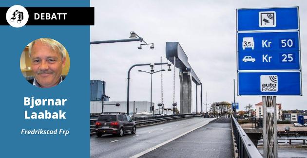 Med Fremskrittspartiets forslag ville gjelden på Kråkerøyforbindelsen vært borte allerede fra 1. juli, ifølge Bjørnar Laabak.