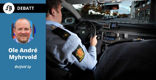 – Senterpartiet vil ha mer lokalt politi ute blant folk. Det har blitt for store avstander og områder uten lokalt tilstedeværende politi mange steder i Østfold.