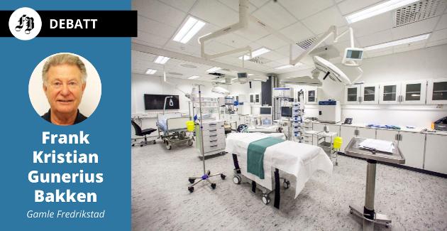 –  Det bare noen minutter før jeg er i CT-maskinen, og etter ytterligere minutter har jeg fått livreddende medisiner, forteller Frank Kristian Gunerius Bakken. Bilde fra akuttmottaket.