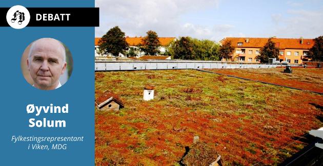 Øuvind Solum mener hele spennet fra planter, dyr og insekter til menneskers trivsel, skal tas med når de utvendige flatene på hus skal få bærekraftig utforming.