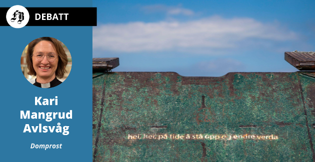 «hei, hei, på tide å stå opp og endre verda» skrev Frode Grytten i diktet der en strofe er gjengitt på lastelemmen på MS Thorbjørn, som går mellom Utøya og fastlandet. «Vi må våge de harde konfrontasjonene med holdninger og meninger vi opplever innskrenker rommet for mangfold» skriver domprosten i Fredrikstad.