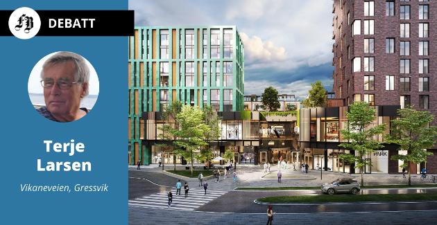«Byhaven» på Værste er et av prosjektene som står for tur for utbygging i Fredrikstad.  For Terje Larsen fortoner det seg om en konkurranse om å oppnå høyest pris for leilighetene.