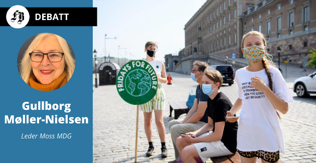– Vi har sett Greta Thunberg med sine demonstrasjoner, «Fridays for Future», i protest mot mangel på handling fra de voksne og politikerne for å stoppe klimakrisa. Bilde tatt utenfor Riksdagen i Stockholm i juni.