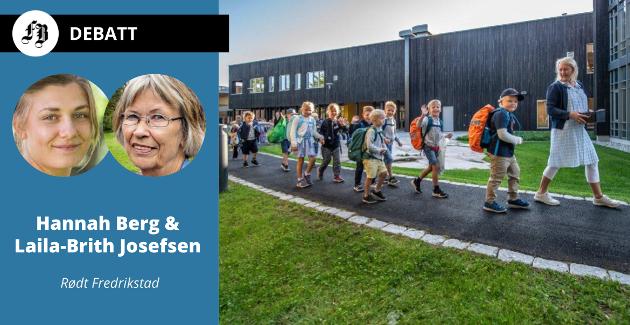 Illustrasjonsbilde fra onsdagens skolestart for elever og skolebygg ved Hvaler barne- og ungdomsskole.