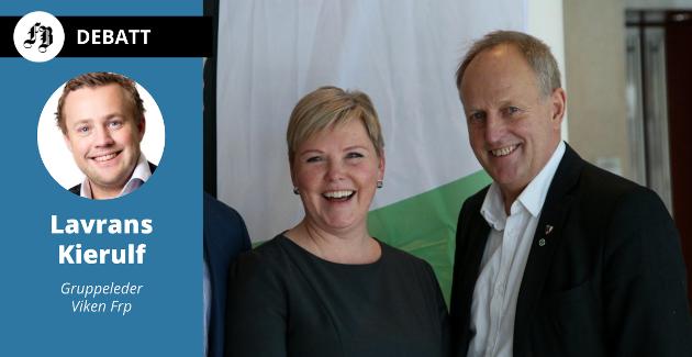 Senterpartiets nestleder  og fylkesråd for plan, klima og miljø, Anne Beathe Tvinnereim og Sps fylkesråd for samferdsel, Olav Skinnes bes svare på hvordan de har tenkt å oppløse Viken.