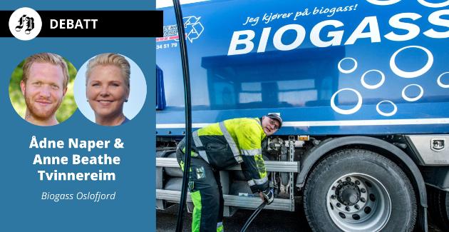 Forfatternes ønske er å lage biogass av husdyrgjødsel i stedet for at den ender som nitrogen i Oslofjorden. På bildet, Trond Eriksen hos Humlekjær og Ødegaard kjører på biogass fra Frevar.