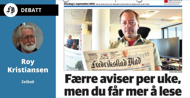 – Så, på sett og vis, tar man gleden fra de eldste abonnentene, skriver Kristiansen om endringen som ble presentert i papiravisen 1. september.