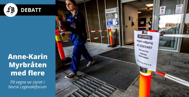 Da unntakstilstanden startet: Strenge tiltak ble satt i verk 12. april 2020 for å gjøre legevakta koronatrygg. Siden den gang har mange ansatte jobbet mye mer enn 100 prosent.