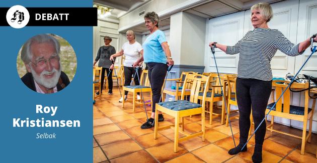 Intense økter som gir mye melkesyre motvirker eller utsetter Alzheimer, ifølge forskning Roy Kristiansen  viser til. Illustrasjonsbilde fra rtim for eldre på +Huset i fjor.