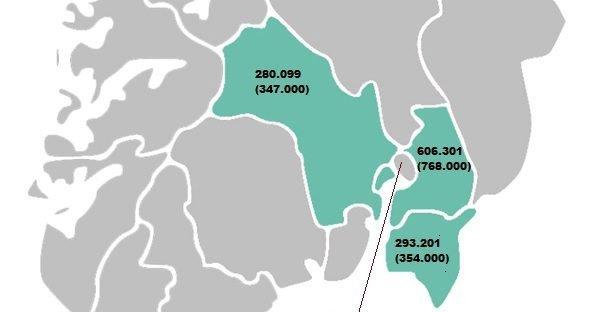 Folkerik del av landet: Den nye region Viken.
