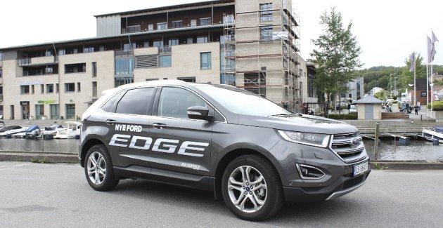 NY MODELL: Ford Edge er større enn typiske kompakt-SUVer som Toyota Rav4 og Mazda CX-5, men mindre enn for eksempel Volvo XC90.