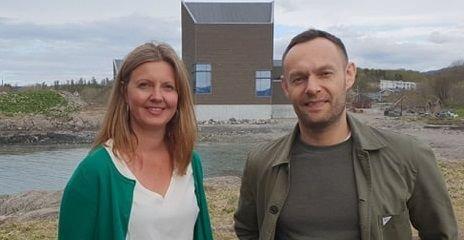 Leder i Bodø SV Synnøve Pettersen og nestleder i SV Torgeir Knag Fylkesnes