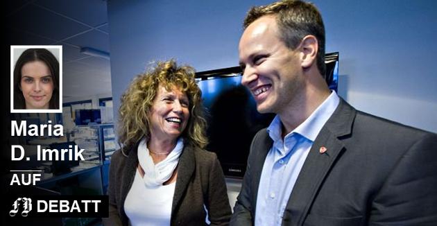 Varaordfører Kari Agerup og ordfører Jon-Ivar Nygård representerer et parti som etter Maria D. Imriks mening har gjort Fredrikstad til et bedre sted å bo.