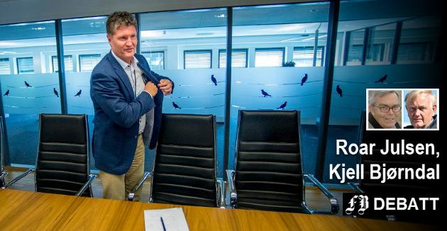 – Vi brukte spissformuleringen «lekekasse for direktører». Dessverre har det vist seg å være riktig, skriver Julsen og Bjørndal om hvordan de mener Fredrikstad Energi er styrt med konsernsjef Trond Andersen som øverste sjef.