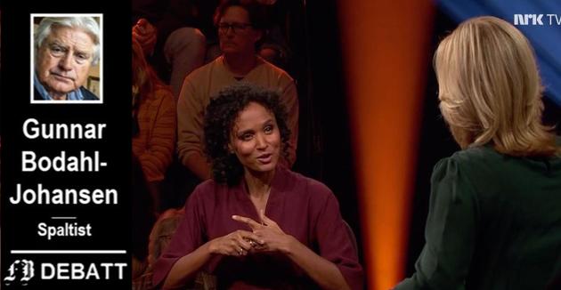 Når folk setter seg i godstolen med rekesmørbrødet og hvitvinsglasset fredagskvelden for å hygge seg med Lindmo, forventer man koseprat, skriver Gunnar Bodahl-Johansen.