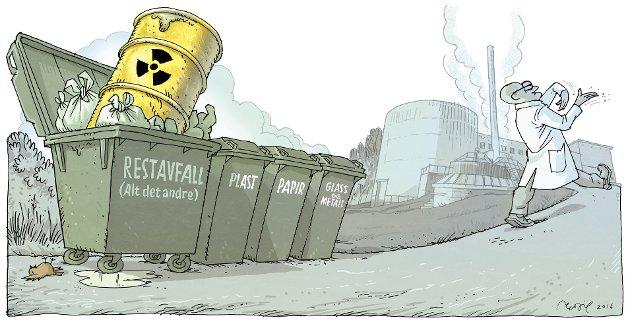 PÅ KJELLER: Det høyaktive avfallet er dårligere sikret enn det mindre farlige søppelet i Himdalen.