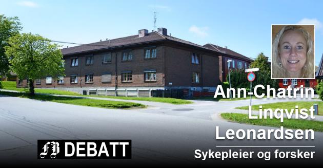 Emil Mørchs Minne i Borge er et av de uegnede sykehjemmene i Fredrikstad. Ann-Chatrin Linqvist Leonardsen frykter for at Fredrikstad ikke får nok sykehjemsplasser i fremtiden.