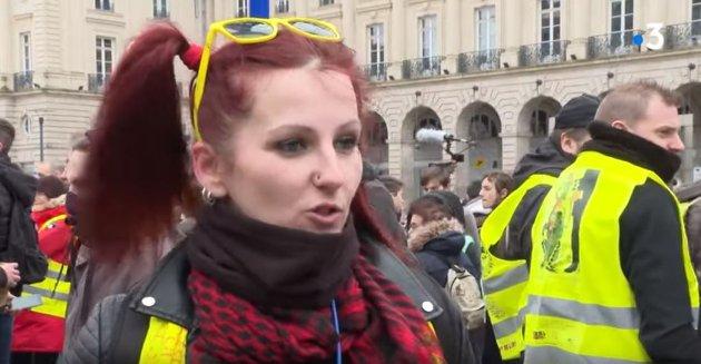 Gammelmedia prøver å skjule disse protestene mot resultatene av klimahysteriet.  - Fra Rennes, 15.02.2020