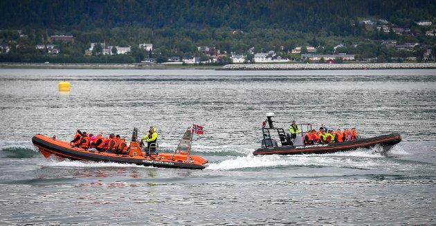 SAKU 2018 på Toraneskaia. Ut på fjorden med 3 havraftere fra Seløy Kystferie.