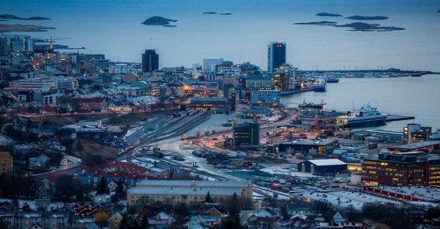 NORD-NORGE I VEKST: Aldri før har byggeaktiviteten i Bodø vært større enn i dag. Bodø er sammen med Alta og Tromsø bare tre av mange eksempler på sterk utvikling i Nord-Norge. Foto: Yngve Olsen, Nordlys