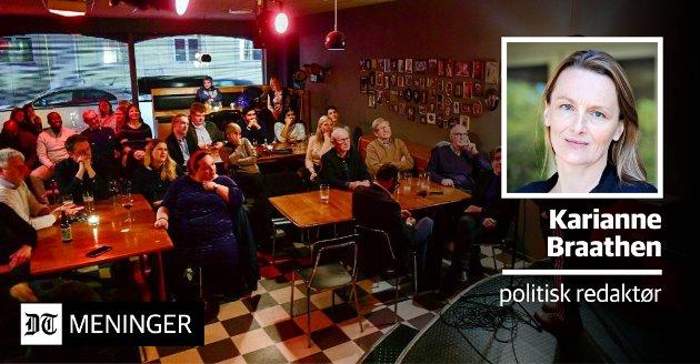 TAKKER SKRIBENTENE: Årets beste samfunnsdebattanter ble kåret på Rekord Bar i Drammen onsdag kveld. Politisk redaktør Karianne Braathen skriver om viktigheten av at lokale meningsbærere hever stemmen.