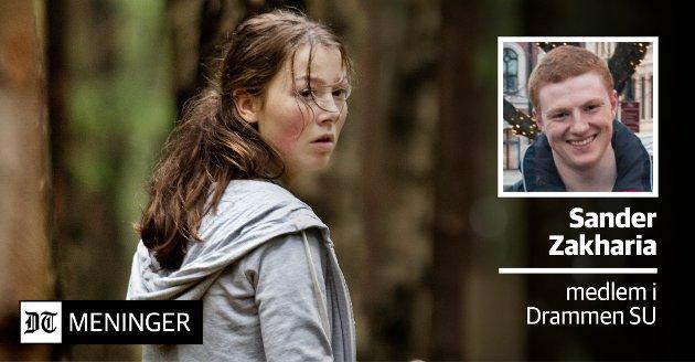 NØDVENDIG FILM: Sander Zakharia mener Utøya-filmen er viktig. Og nødvendig. På bildet ser du hovedrolleinnehaver Andrea Berntzen i rollen som Kaja.
