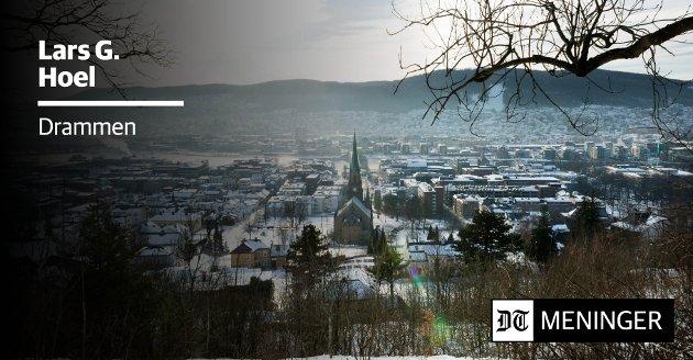 UTSIKT: Fra De Eldres vei i Bragernesåsen har man fin utsikt over byen.