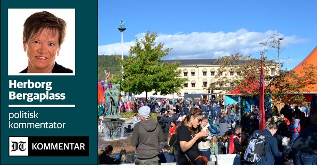 POPULÆR: Globusfestivalen samler mange folk, både drammensere og tilreisende. For både deltakere og publikum er det en stor fest. Forhåpentligvis lever fellesskapsfølelsen videre når maten er fortært og dansen er slutt.