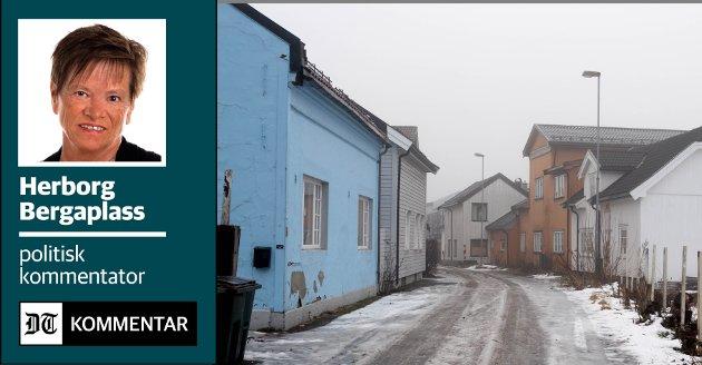 NEGLISJERT I MANGE ÅR: Gamleby-området fremstår ikke særlig attraktivt. Det vil de rødgrønne som styrer nye Drammen gjøre noe med. Hvis man lykkes med oppgraderingen og klarer å gjenskape gamlebyens sjel, kan Drammen på sikt få en gamleby å være stolt av.