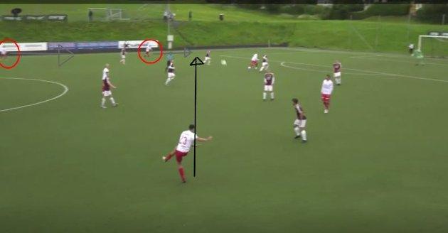 Marius Hagen var arkitekten bak scoringen, da han crosset millimeterpresist til Thomas Drage på motsatt kant.