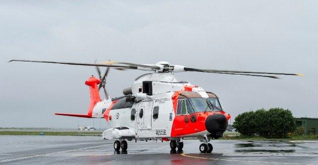 SAMFUNNS-SIKKERHET: Et AW101- redningshelikopterer stasjonert på sola lufthavn. Foto: Carina Johansen / NTB Scanpix