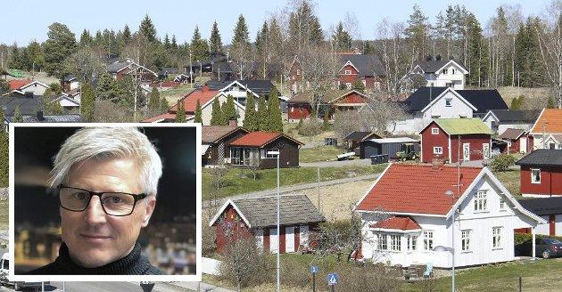 RETTFERDIGHET: Geir Nøsterud (innfelt) i Huseiernes Landsforbund mener Eidskog kommune bør gå en ny runde med taksering av eiendommene i bygda.