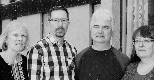 Hovedtillitsvalgte hos Fylkesmannen i Finnmark, Laila Standbakke Smuk (UNIO), Tom Olav Stavseth (Akademikerne), Jon Reidar Olsen (LO), Rannveig Rushfeldt (YS).