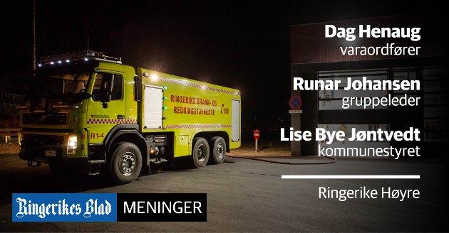 IKKE  BARE I BYEN: Det investerer betydelige summer utenfor Hønefoss-gryta, påpeker lokale Høyre-representanter. Bildet viser Sokna brannstasjon, der det ble investert ni millioner kroner.