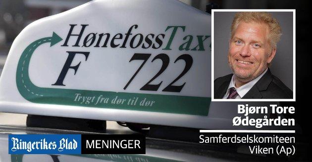 SIKRE TILBUDET: – Fylkeskommunen vi skre distriktene et drosjetilbud, skriver Bjørn Tore Ødegården (Ap).