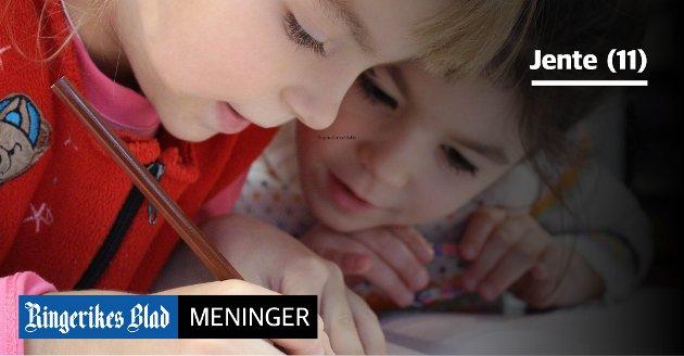 LENGRE SKOLEDAG: – Vi kunne sluttet på skolen en time senere i dag, skriver 11-åring. (illustrasjonsfoto)