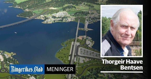 FEIL: – Det må erkjennes at trasévalget for en Ringeriksbanen ble feil, skriver Torgeir Haave Bentsen.